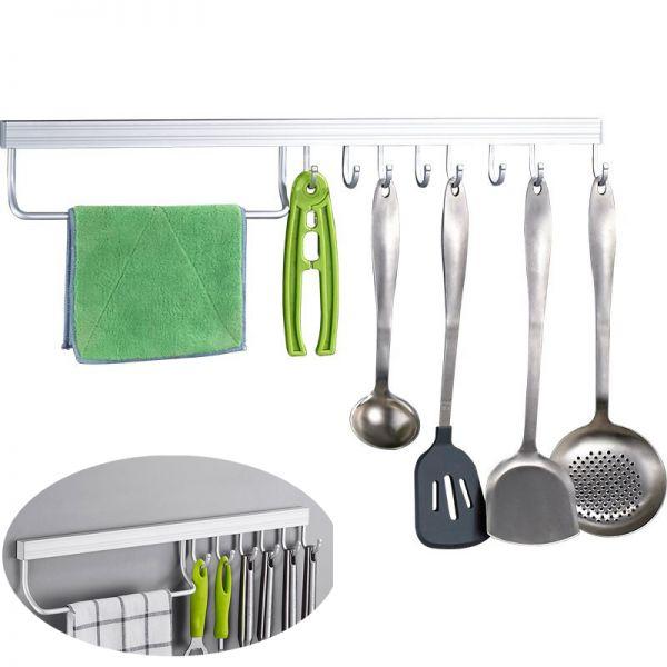 Gte 8 Hooks Kitchen Utensils Rack